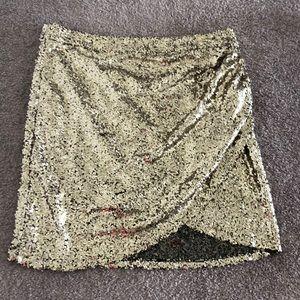 Bright Gold Mini Skirt